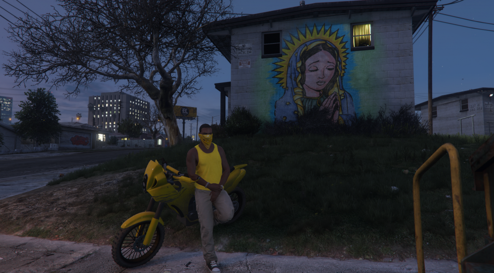 Kendrick chilling with his bf400 in the hood.png